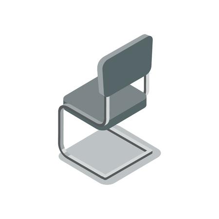 Empty office сhair isometric 3D icon