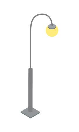 Elegant streetlamp isometric 3D icon