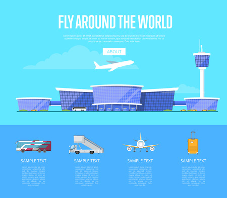 Fly around the world concept for airline
