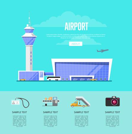 Modern international passenger airport advertising