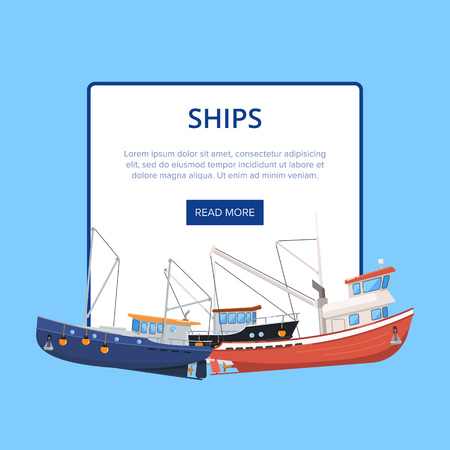 Vintage marine flotilla of ships poster 版權商用圖片