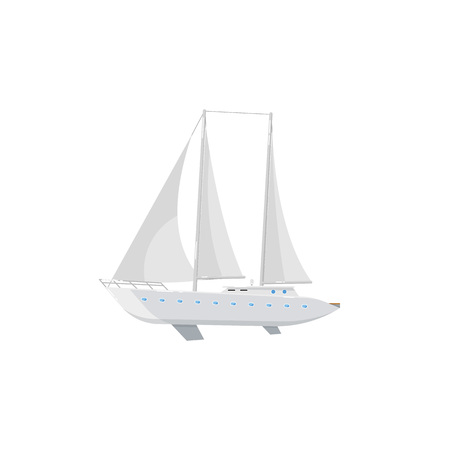Luxury yacht isolated on white icon Stok Fotoğraf
