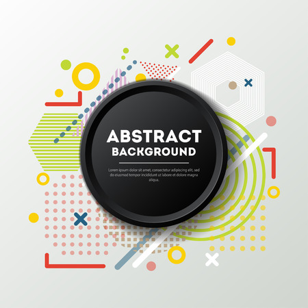 Abstract background in trendy linear style Фото со стока