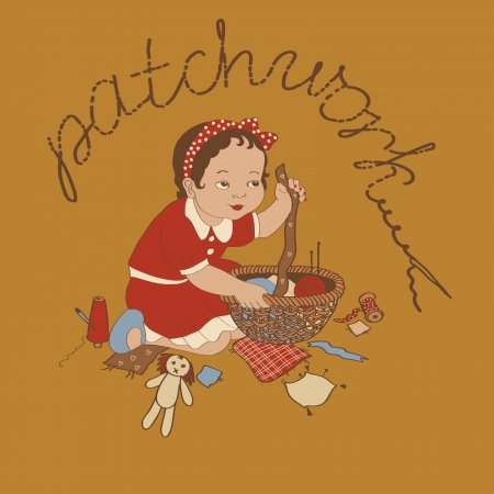 Cute little girl hand crafting