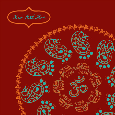Indian style circle background for your design Illustration