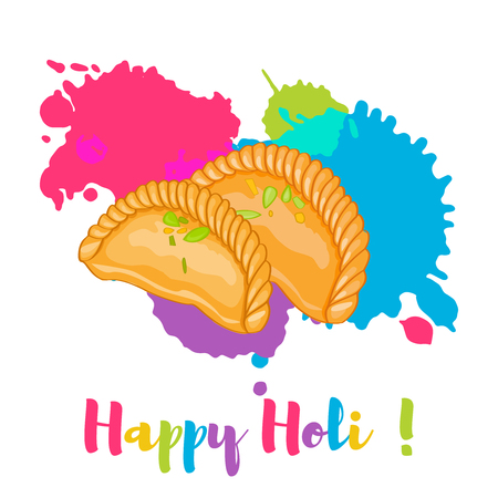 Happy Holi colorful card design vector illustration Stock Vector - 95979566