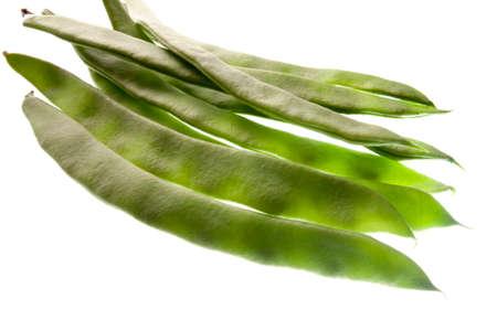 ejotes: Judías verdes aislados sobre fondo blanco