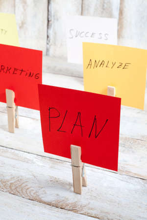 colored paper: planning a strategy with colored paper