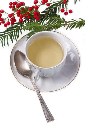Green tea and teaspoon Stock Photo