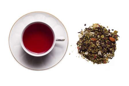 rooibos: Rooibos tea with white background