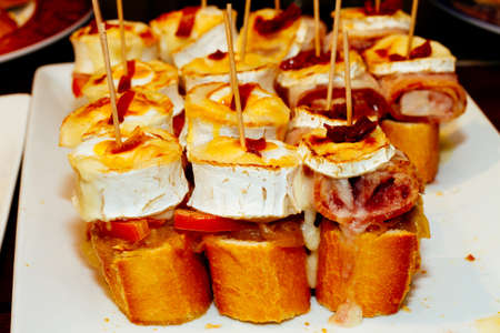 basque country: Spanish tapas called pintxos of the Basque country