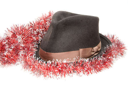 personally: Classic mens hat with embellishment Stock Photo
