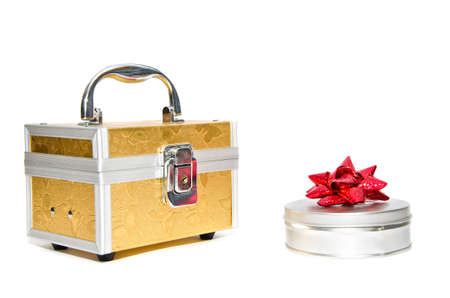 Box for jewelry on a white background photo