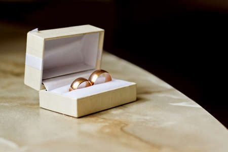 Wedding rings in a box Stock Photo - 11998316