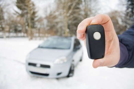 car keys in hand Stock Photo - 12173859