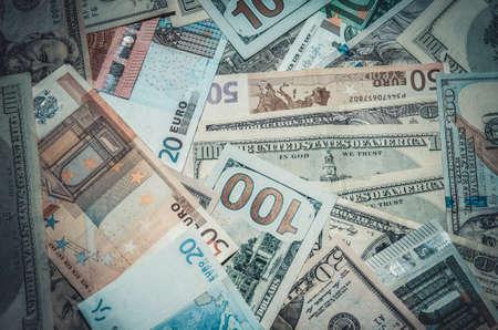 dollar: Due leader di valuta - US Dollar vs Euro Archivio Fotografico