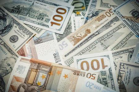 dollaro: Due leader di valuta - US Dollar vs Euro Archivio Fotografico