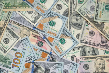 Background of us dollar bills Stock Photo