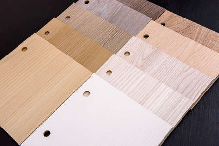 Light color wooden planks at dark background 免版税图像