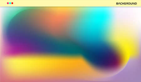 Abstract background in soft blue orange pink yellow green black color in colorful gradations for business wallpaper background