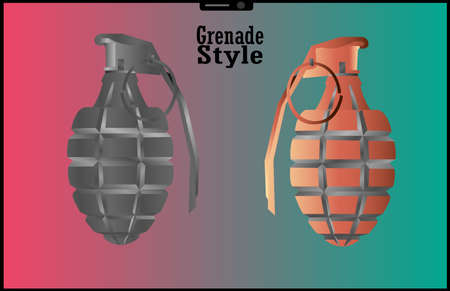 Hand held grenade illustration for usable vector poster banner background wallpaper 向量圖像