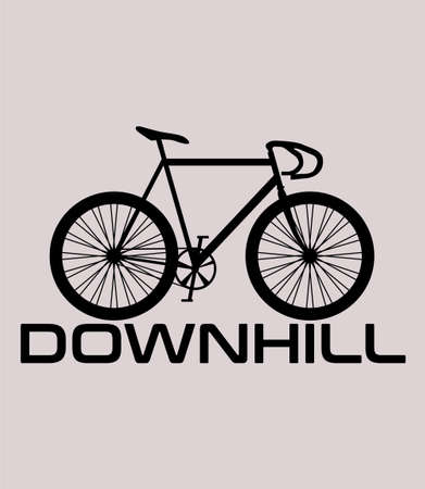 Mountain bike down hill style clothing illustration design for clothing poster and logo vector background
