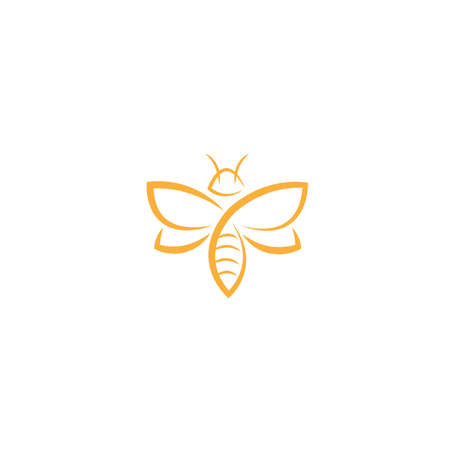 abstract Bee Logo design vector template. Creative bee logo concept, vector logo illustration.