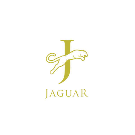 simple elegant roaring jaguar logo icon illustration vector template design. Standard-Bild - 133393433
