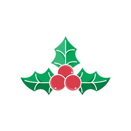Christmas Holly Berry icon vector illustration isolated on white background.