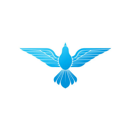 Dove icon. Flying dove silhouette design line art style.