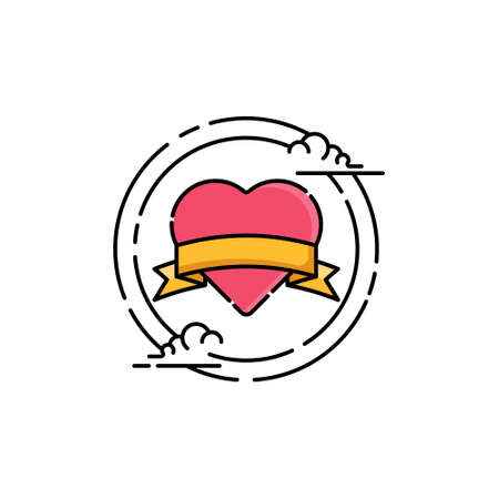 Heart icon. Heart icon art. Heart icon eps. Heart icon Image. Heart icon logo. Vector Love Hearts concept. Love Icons. Romantic love isolated on white background. valentine sign symbol. love icon. Vector illustration EPS10