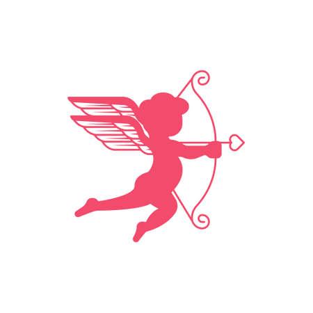 Icône de Cupidon. Flèche de Cupidon simple, logo de Cupidon. Signe d'icône d'amour. Vecteur d'icône de Cupidon, coeurs d'amour, vecteur d'icône de Cupidon isolé sur fond blanc. L'art de l'icône de Cupidon. Cupidon icône eps. Image d'icône de Cupidon. Logo d'icône de Cupidon. Signe d'icône de Cupidon. Icône de Cupidon à plat. Conception d'icône de Cupidon. Logo