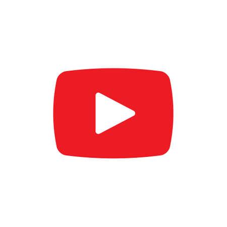 Video Icon Logo Vector Illustration. Video player icon design vector template. Trendy Video vector icon flat design for website, symbol, logo, icon, sign, app, UI. Logó