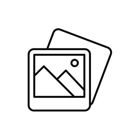 Picture Gallery Icon Logo Vector Illustrattion. Photo Gallery icon design vector template. Trendy Picture Gallery vector icon flat design for website, symbol, logo, icon, sign, app, UI. Stockfoto - 145054189