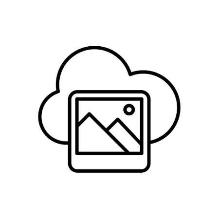 Picture Gallery Icon Logo Vector Illustrattion. Photo Gallery icon design vector template. Trendy Picture Gallery vector icon flat design for website, symbol, logo, icon, sign, app, UI. Stock Illustratie