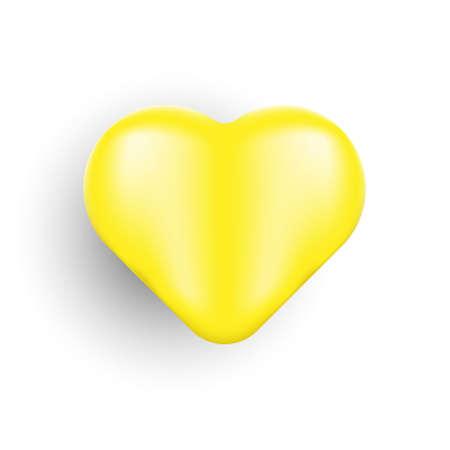 Heart icon, logo, symbol vector illustration template. Realistic love vector design isolated on white background. Symbol of Love icon vector illustration. Stock Illustratie