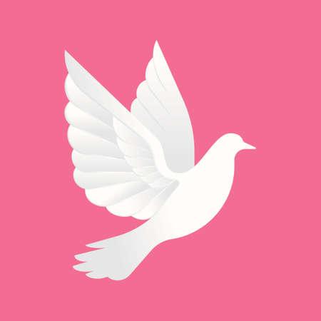 Dove logo icon Vector illustration. Abstract Flying dove logo elegant silhouette design vector flat design style. Dove logo, icon, symbol, emblem, template vector illustration design.