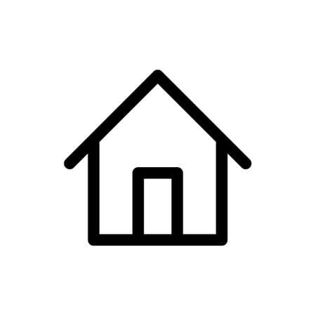 Home Icon Logo Vector design illustration. Simple House logo icon vector in flat design illustration template. Trendy Home vector icon flat design for website, symbol, logo, icon, sign, app, UI.