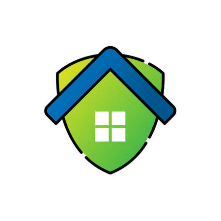 Home Security Logo Icon vector design illustration. Home Security with Shield Logo icon design concept for House and Real Estate. Smart House Secure design for website, symbol, logo, icon, app, UI.