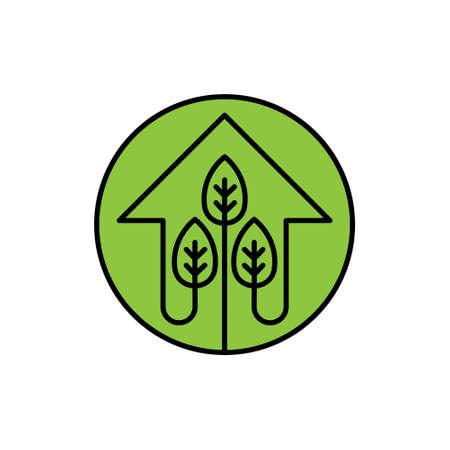 Green Eco Home Logo Icon Vector design illustration. Ecology Home logo icon design concept vector template. Trendy Eco Smart House vector icon design for website, symbol, logo, icon, sign, app, UI
