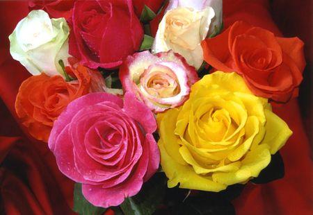 Valentine Bouquet Stock Photo