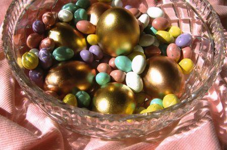 jelly beans: Uova e Jelly Beans Archivio Fotografico