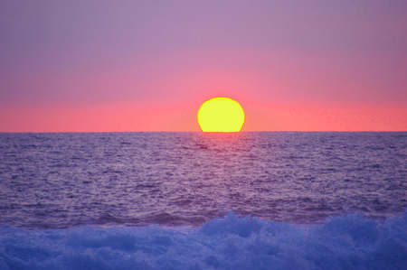 Tropical Hawaiian Sunset Stock Photo