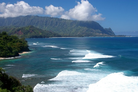 Vista Enroute to the Na Pali Coast, Kauai Stock Photo
