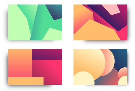 Set vector backgrounds with gradient colors beautify the look of the design and can attract the attention of your consumers