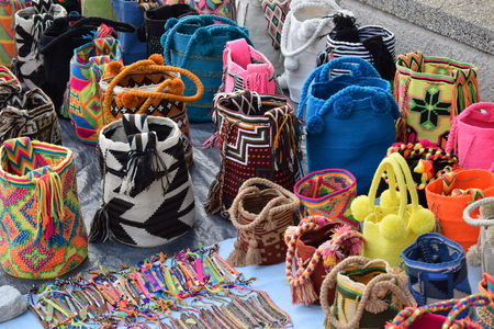 Fair of handcrafted backpacks