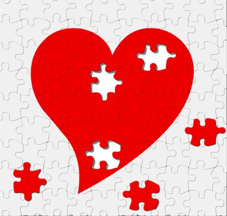 Love is a puzzle with some missing pieces photo