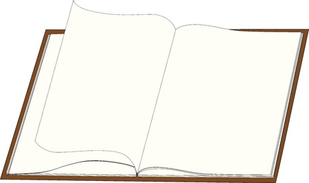 yellowed: Opened Brown book