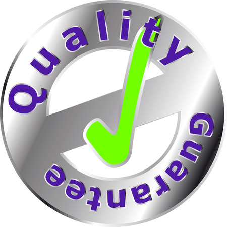 quality seal: Metallic Quality Seal isolated over a white background
