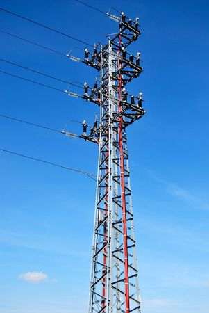 Electrical tower over the sky. Energy concept Stock Photo - 3823514